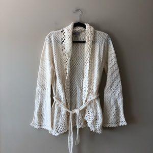 Nine & Co cream handknit style sweater